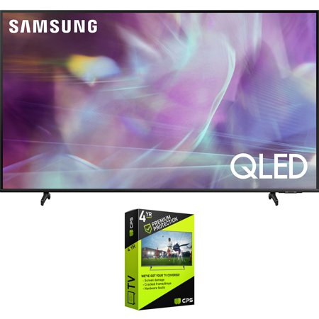 Samsung QN70Q60AA 70 Inch QLED 4K Smart TV (2021) Bundle with Premium 4 Year Extended Protection Plan