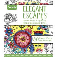 Crayola Elegant Escapes Adult Coloring Book, Quantity of 12, PT, 99-2023