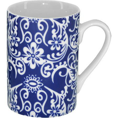 Three Star Im/Ex Inc. 4 Piece Floral Coffee Mugs Set - Floral Coffee Mug