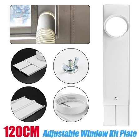 "2Pcs 26~47""Adjustable Length Window Slide Kit Plate Portable Air Conditioner Spare Parts"