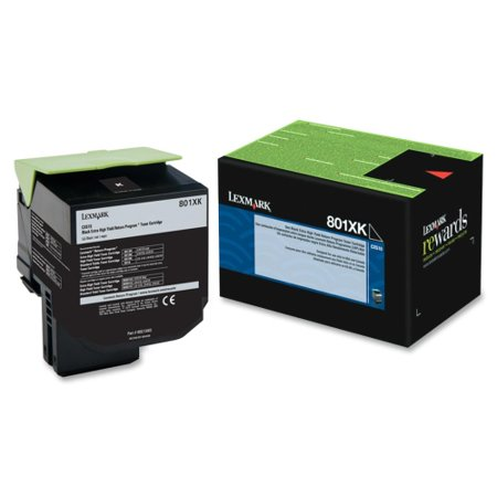 Lexmark 80C1XK0 Lexmark 801XK Black Extra High Yield Return Program Toner Cartridge - Black - Laser - 8000 Page - 1 Each - OEM 14 Return Program Ink