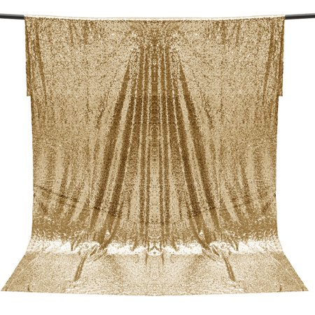 4X6FT Gold/Silver Shimmer Sequin Fabric Studio Photo Backdrop Wedding Party Photo Ceremony Booth Wall Photography Background - Halloween Photo Booth Backdrop