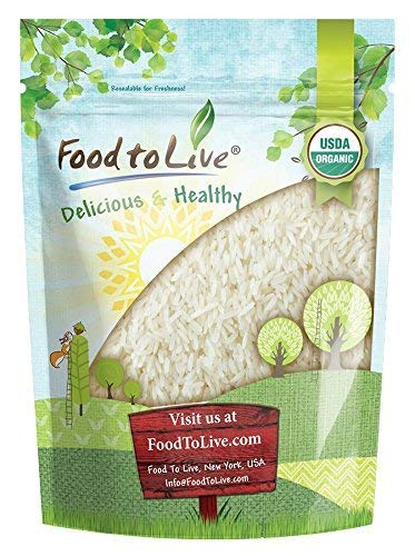 Organic White Jasmine Rice, 3 Pounds – Raw White Rice, Whole Grain, Non-GMO, Bulk, Product of the USA – by Food to Live