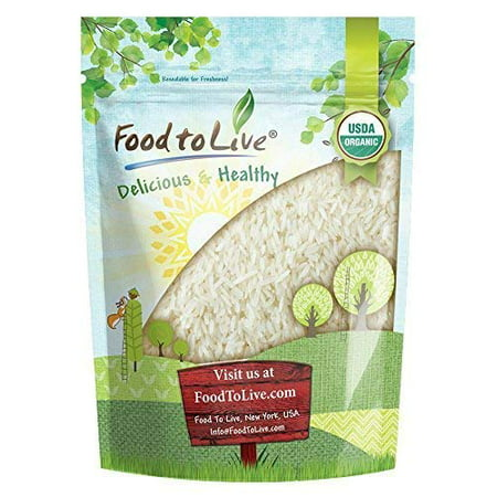 Organic White Jasmine Rice, 3 Pounds - Raw White Rice, Whole Grain, Non-GMO, Bulk, Product of the USA - by Food to
