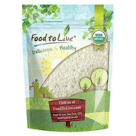 Organic White Jasmine Rice, 3 Pounds - Raw White Rice, Whole Grain, Non-GMO, Bulk, Product of the USA - by Food to (Best Sona Masoori Rice In Usa)