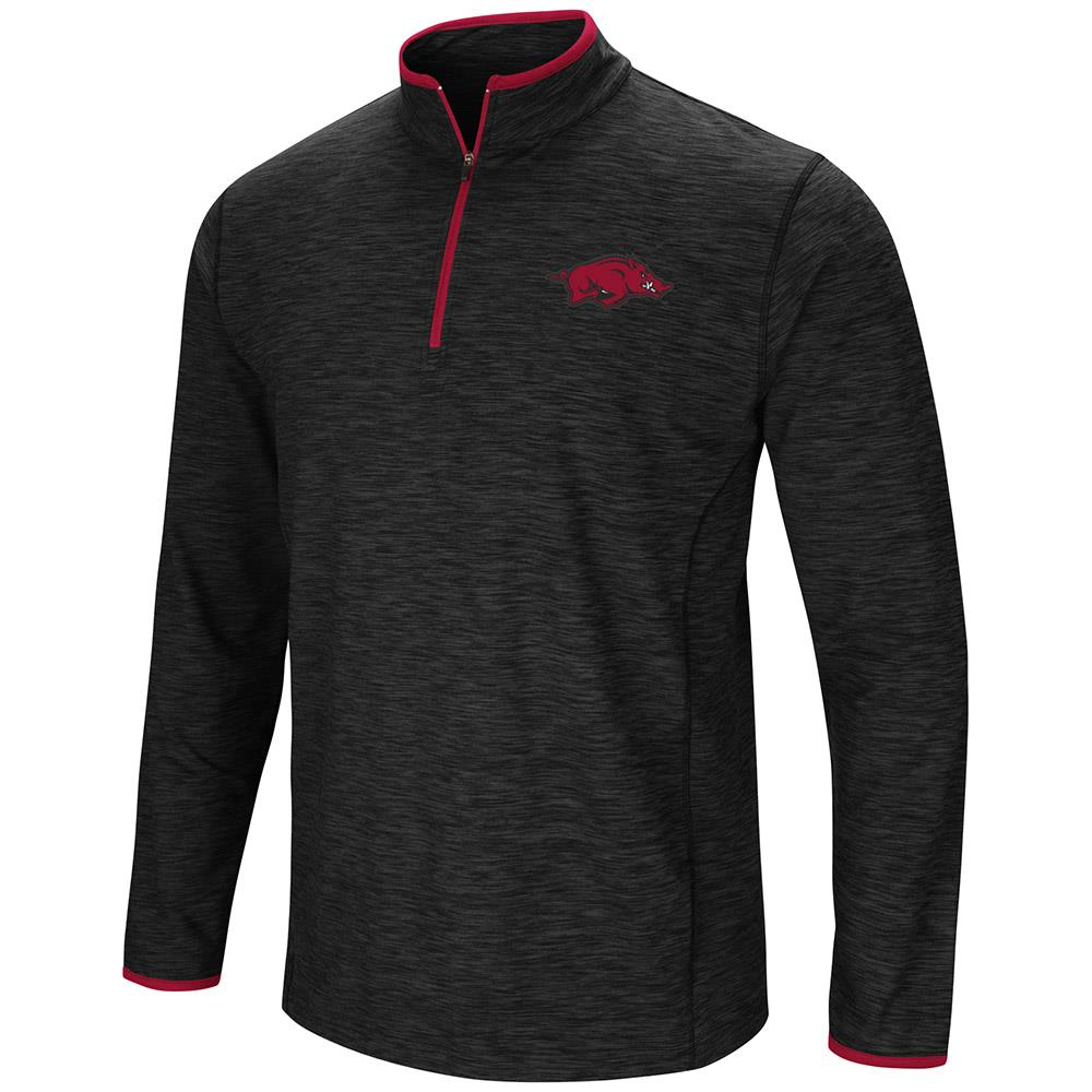 Mens Arkansas Razorbacks Quarter Zip Wind Shirt - S