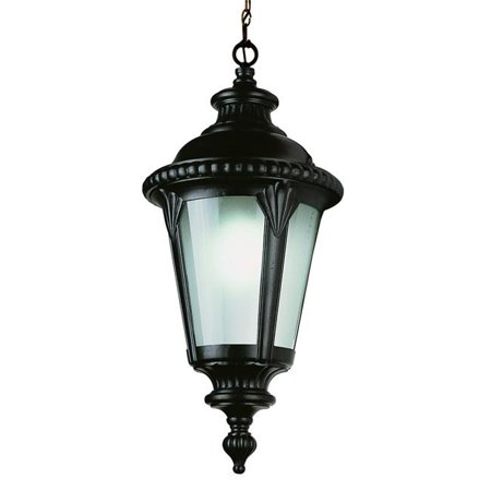 Trans Global Lighting 5049 Bk Estate 1 Light Outdoor Hanger Black
