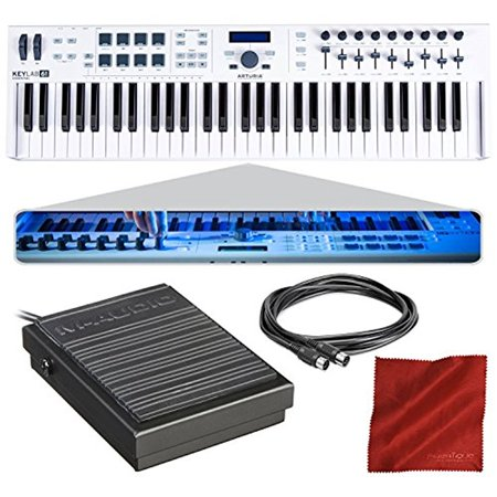 arturia keylab essential 61 universal midi controller and software with sustain pedal midi. Black Bedroom Furniture Sets. Home Design Ideas