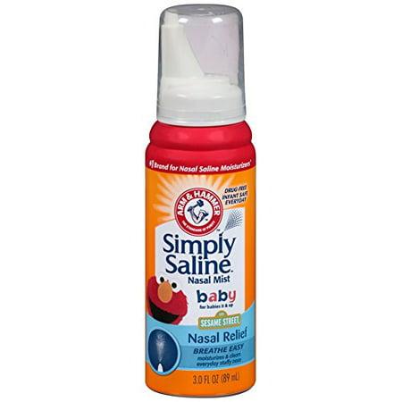 Simply Saline Nasal Mist Baby  Super Size 3 Oz Each