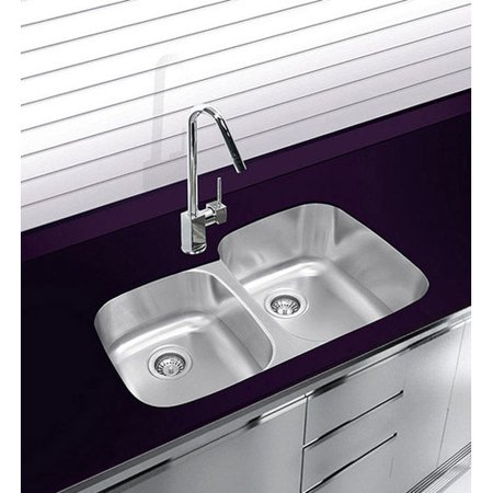 Ukinox 32 X 21 Double Basin Undermount Kitchen Sink With Grip And Board