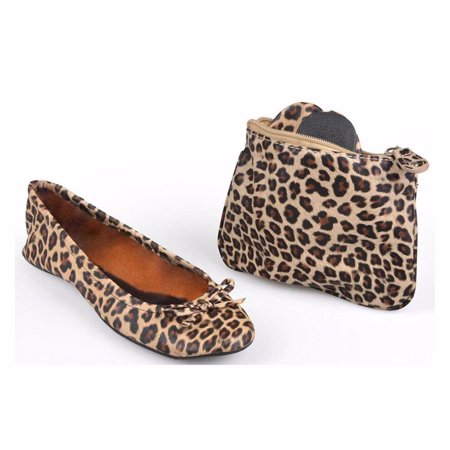 Cosabella Leopard - Sidekicks Animal Leopard, Folding Ballet Flats