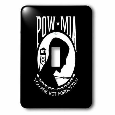 3dRose POW MIA Black and White Single Toggle Switch