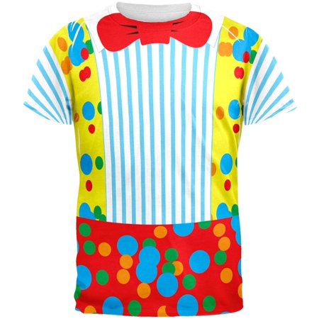 Clown Costume All Over Adult T-Shirt](Clown Clothes)