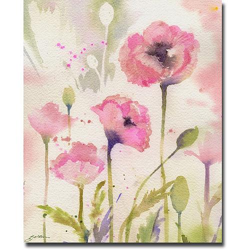 "Trademark Art ""Oriental Poppy Garden"" Canvas Wall Art by Shelia Golden"