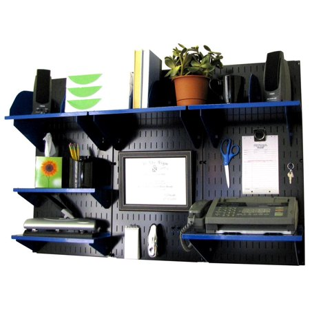 Wall Control Office Organizer Unit Mounted Desk Storage And Organization Kit Black Panels