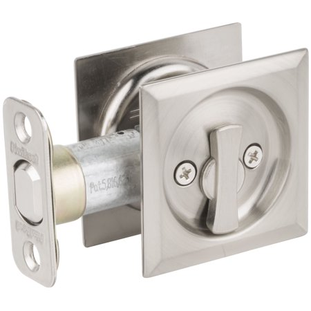 Kwikset 335SQT Square Privacy Bed/Bath Pocket Door Lock