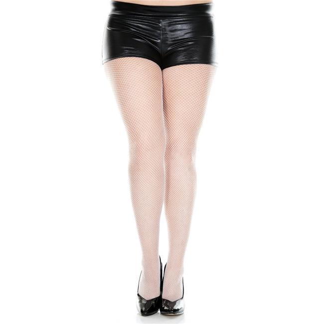 c5f014a8e91 Music Legs 9001Q-BABYPINK Plus Size Fishnet Seamless Pantyhose  44  Baby  Pink