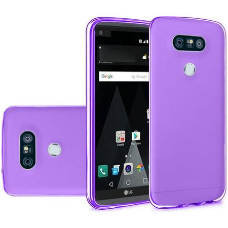 LG V20 Case - Wydan TPU  Soft Gel Skin Case Flexible Durable Cover Purple