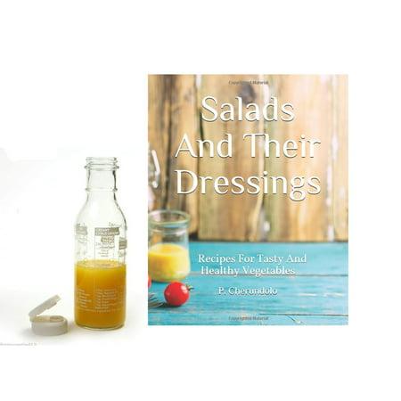 Norpro Glass Salad Dressing Maker Shaker & Salad Dressing Recipe Book