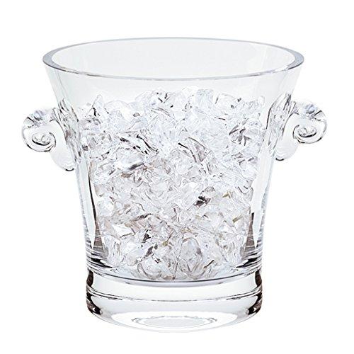 Badash Chelsea Mouth Blown Thick Sham Crystal Ice Bucket