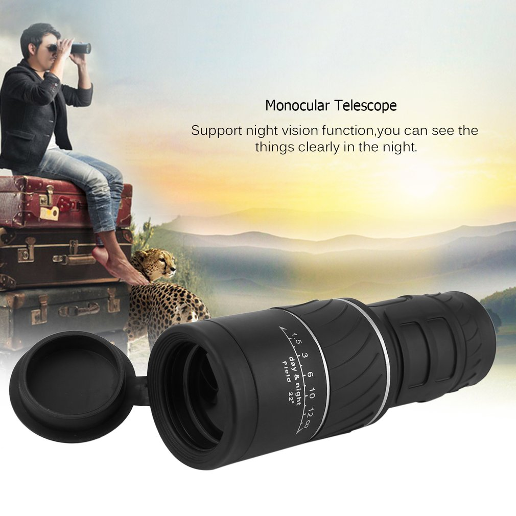 Click here to buy 40X60 Focus Zoom Outdoor Hunting Camping Water-Resistant Night Vision Handheld Portable Monocular Telescope.