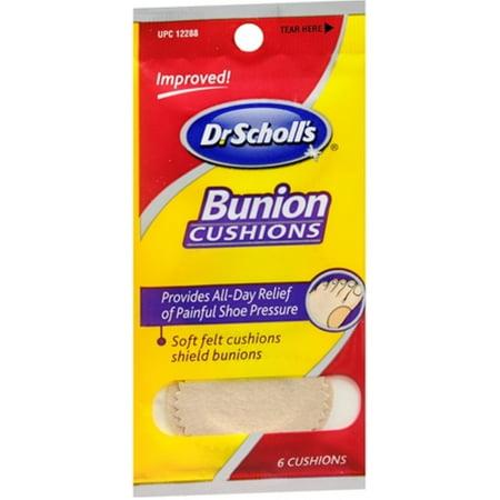 Dr. Scholl's Bunion Cushions Felt 6 Each (Pack of 3)