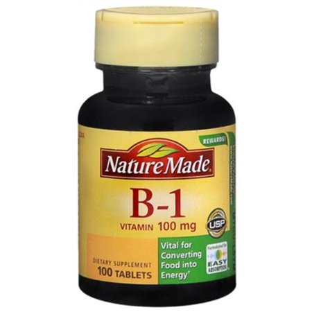Nature Made vitamine B-1 100 mg Comprimés 100 Comprimés (Pack de 3)