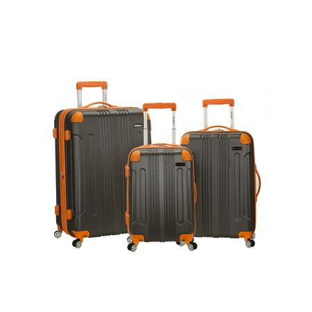 (Rockland Luggage Sonic 3 Piece Hardside Spinner Luggage Set)