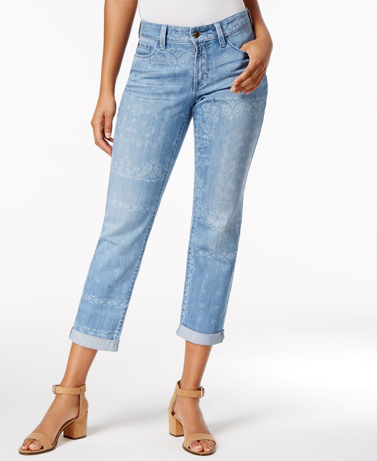 Nydj Jessica Bandana Wash Boyfriend Jeans