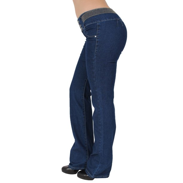 ladies jeans design : Womens Juniors Ladies Casual Summer PUSH UP Stretchy Mid Rise 3 Button Butt Lifting Levanta Cola Colombian Design Light Blue Wash Jean Denim Shorts Capris 10355W