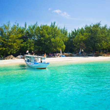 Crystal Boat (Traditional Indonesian Outrigger Boat in Crystal Clear Waters of Gili Trawangan, Indonesia Print Wall Art By Matthew Williams-Ellis )
