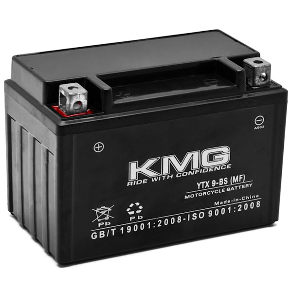 KMG Kawasaki 250 EX250 Ninja 250R 2009-2012 YTX9-BS Sealed Maintenace Free Battery High Performance 12V SMF OEM Replacement Maintenance Free Powersport Motorcycle ATV Scooter Snowmobile KMG