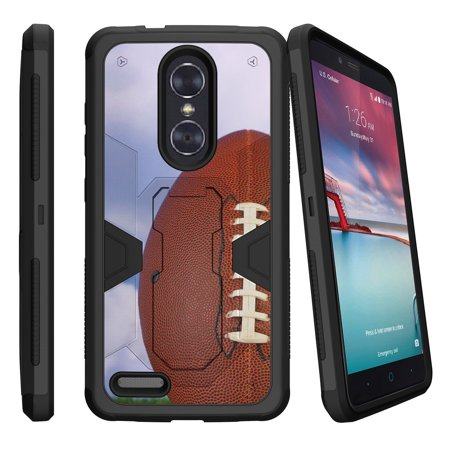 ZTE Zmax Pro Z981 Dual Layer Shock Resistant MAX DEFENSE Heavy Duty Case with Built In Kickstand - Field