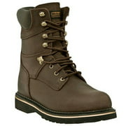 McRae Industrial Men's MR88144 Leather Lacer Dark Brown Work Boot