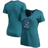 Kemba Walker Charlotte Hornets Fanatics Branded Women's Notable Name & Number V-Neck T-Shirt - Teal