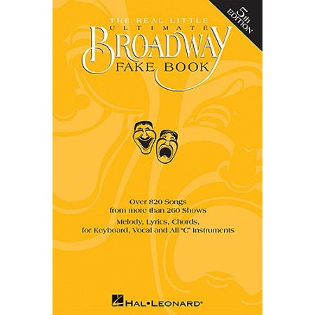 The Real Little Ultimate Broadway Fake Book (Paperback) - Buy Fake Money That Looks Real