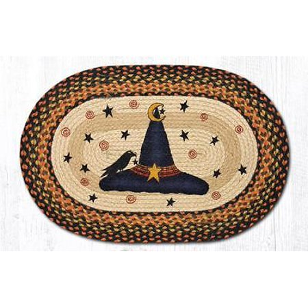 WITCH HAT Halloween 100% Natural Braided Jute Rug, 20