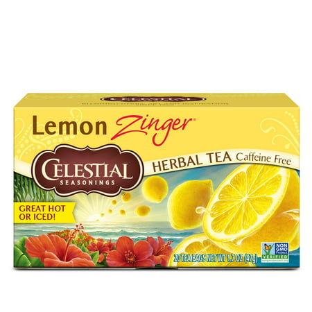 Celestial Seasonings Lemon Zinger Herbal Tea, 20 Count