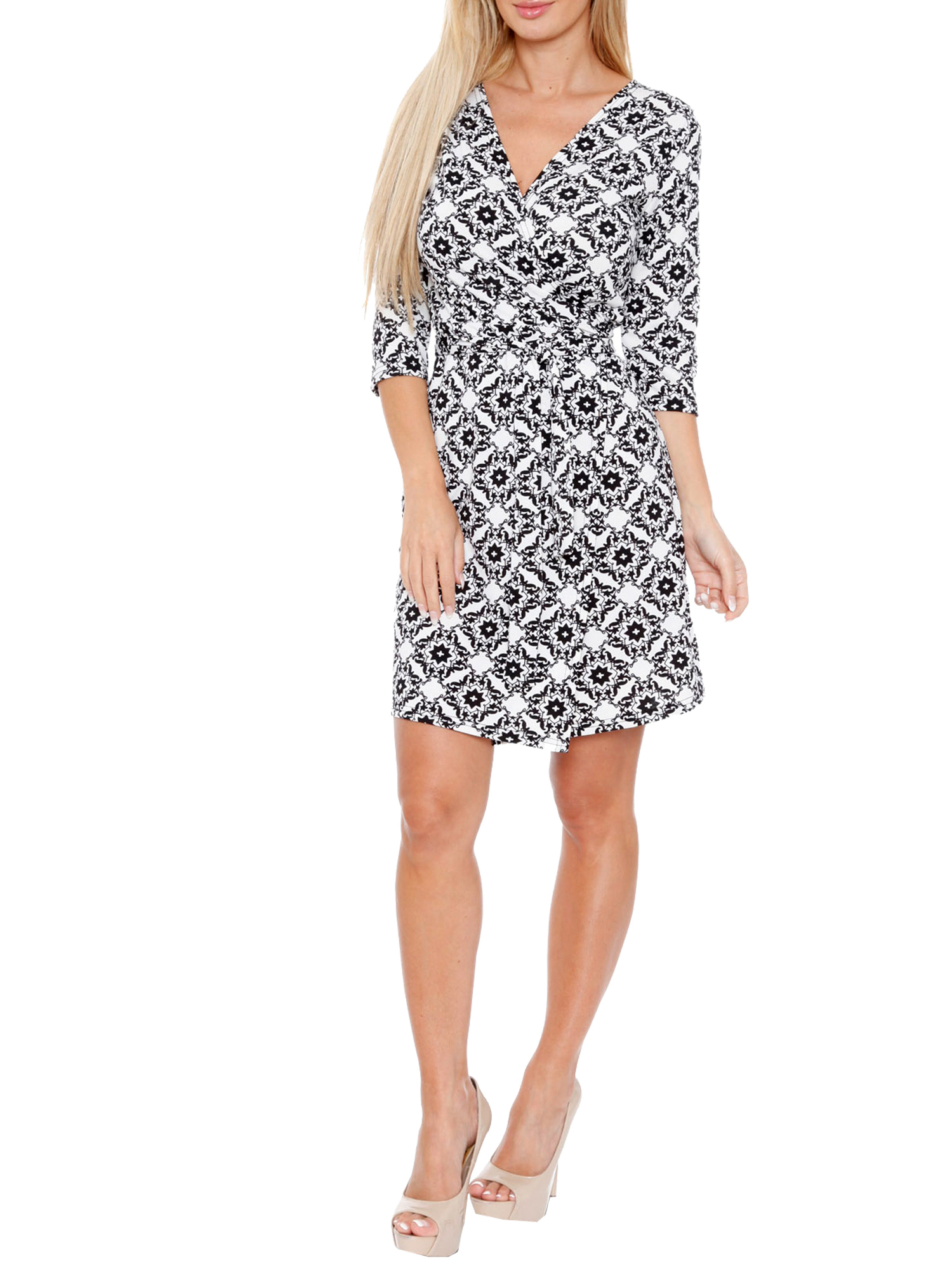 Women's Batik Wrap Dress