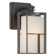 Designers Fountain 31811-CHA Braxton Outdoor Wall Light In Charcoal