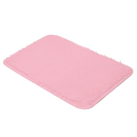 Baby Name Frame Pink Mat - 40*60CM Soft Fluffy Rugs Anti-Skid Shaggy Area Rug Dining Room Home Bedroom Silk Carpet Floor Mat 12 Colors bathroom living room Non-slip carpet