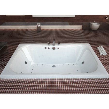 Atlantis Tubs 4060NDL Neptune 40 x 60 x 23 Rectangular Air and Whirlpool Jetted Bathtub w/ Left Side Pump Placement