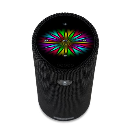 - Skin Decal For Amazon Echo Tap Skins Stickers Cover / Neon Flower Trippy Shape