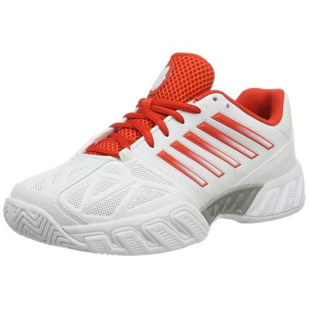 best service 3fe5a 7d64b K-Swiss - K-Swiss Bigshot Light 3 Womens Tennis Shoe (White Fiesta Silver,  5.5 M US) - Walmart.com
