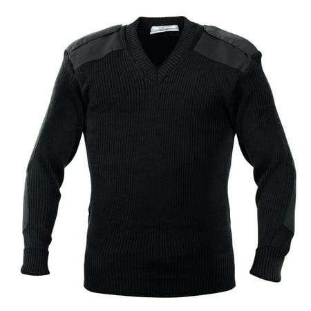 GI Acrylic V-Neck Commando Sweaters-2X Black - Acrylic Sweaters