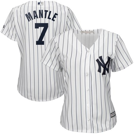 finest selection 84770 e494f Mickey Mantle New York Yankees Majestic Women's Cool Base Player Jersey -  White
