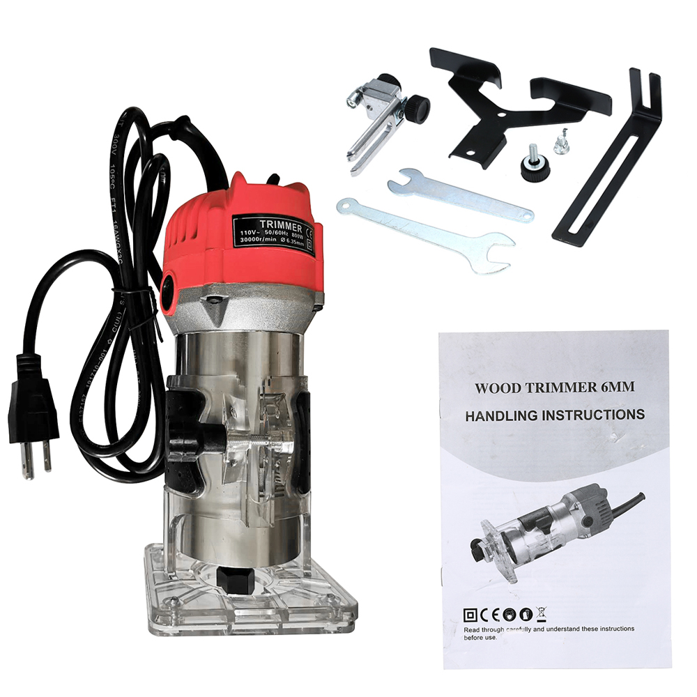 Woodworking Router Clear Base Electric Trimming Machine Cover PC Plastic Base US