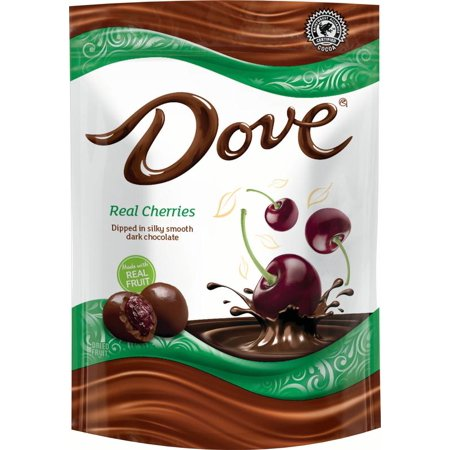 Dove, Dark Chocolate With Whole Cherries Snack, 6 Oz
