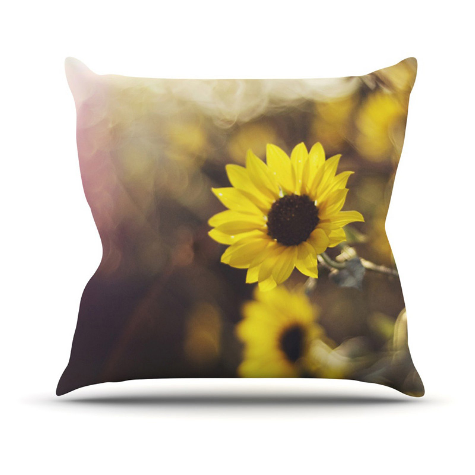 Kess InHouse Libertad Leal Magic Light Flower Outdoor Throw Pillow