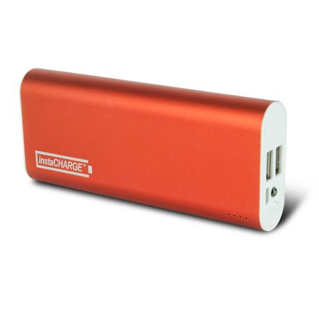instaCHARGE 8800mAh Dual USB Power Bank Portable Battery Charger - Orange